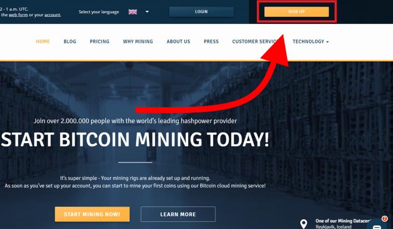 1. Account registration - Genesis Cloud Mining