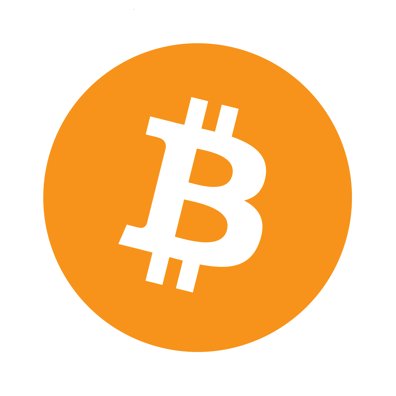 Bitcoin BTC Mining - Cryptocurrency Logo