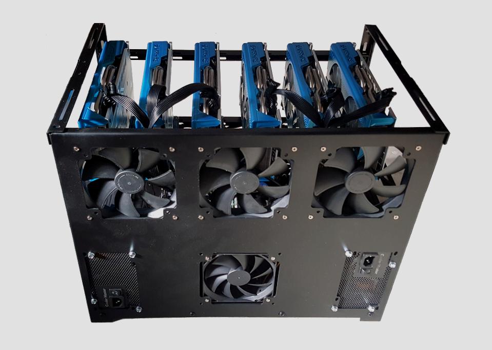 Ethereum GPU Mining Rig for Mining - ITCA Poseidon 6xGPU