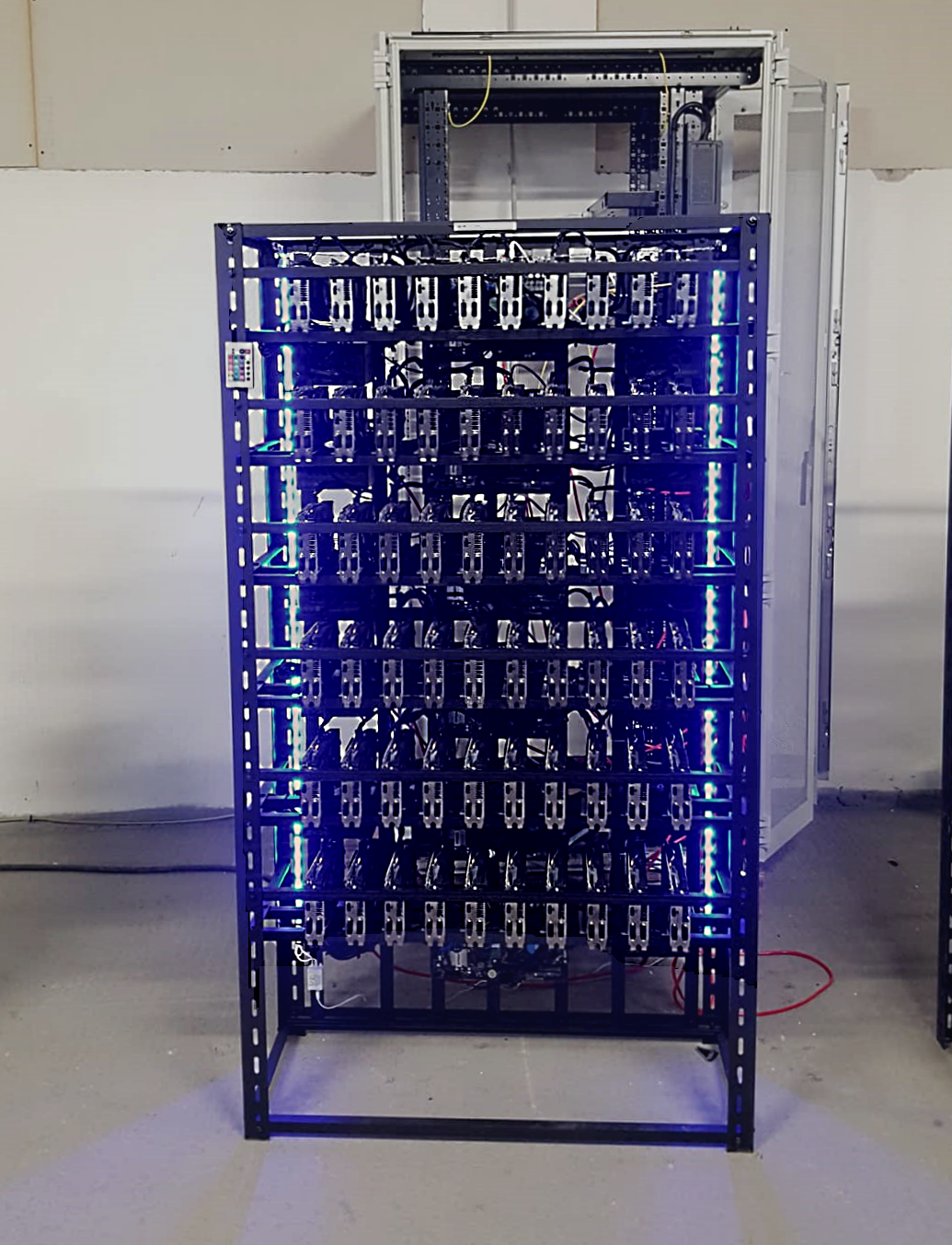 Ethereum GPU Mining Rig with 60x GPU Graphics Card - Miner for cryptocurrency mining