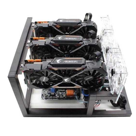 GPU Mining Rig 3x GPU rack - 180 MHs Hashrate - Ethereum Miner For Sale